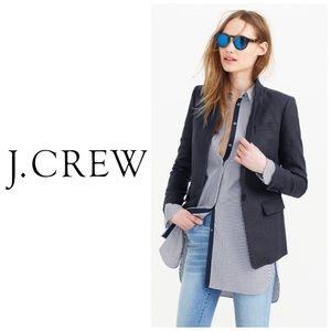 J Crew Navy Regent Linen Blazer Size 4